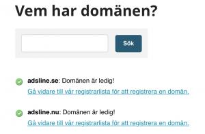 Adsline.se är oregistrerad